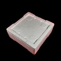 Термо контейнер (105х105х40мм) для хранения червя, мотыля и других насадок.