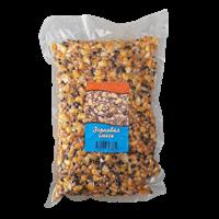 Cмесь: кукуруза, конопля, пшеница распаренные  1кг.