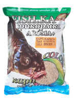 Прикормка Fish-Ka КАРП-КАРАСЬ 1кг ВАНИЛЬ